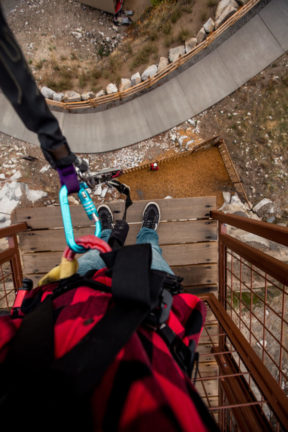 Cliffhanger Free Fall Bungee Jump at Quarry Park Adventures